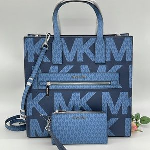 Michael Kors Large Kenly Tote & Double Zip Wallet